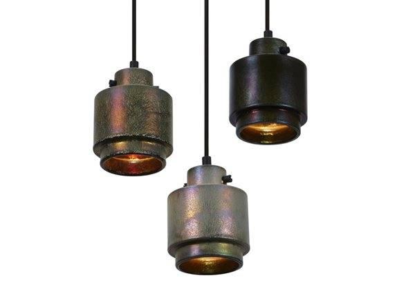 De første keramik lamper i Tom Dixon serien. Den ekstraordinære metalfinish