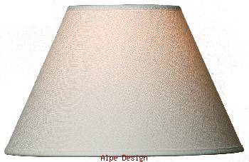 kvalitets lampeskærm - model JP i hvid chintz (silke) Mange forskellige størrelser.