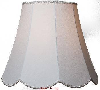 Håndsyet lampeskærm - model Pagode i hvid eller creme. Mange forskellige størrelser.