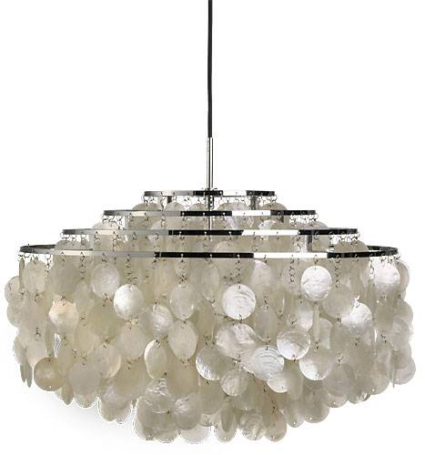 Verner Pantons klassiske hængelampe med fire-rings stel