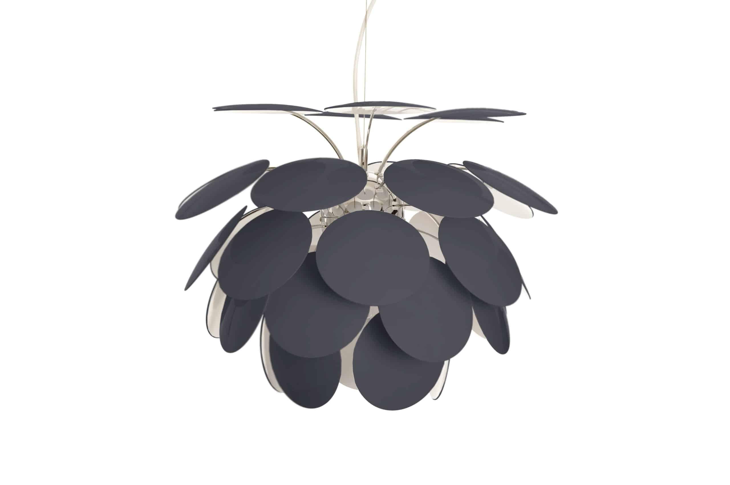 Discoco er designet af Christophe Mathieu. Lampen skaber en elegant og hemmelighedsfuld atmosfære. Pendlen består af 35 skiver