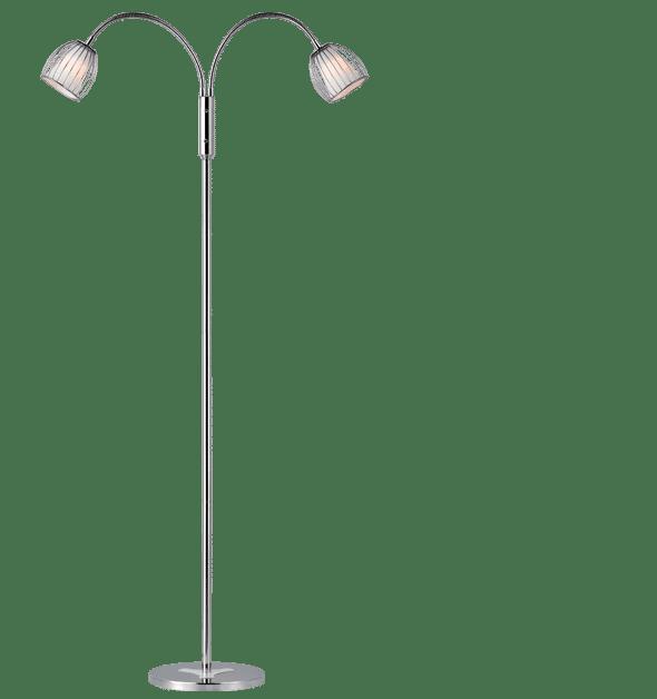 Manhattan Gulvlampe m/flex arme Farve: Opal eller sort Max. Watt 40 Højde: 140 cm