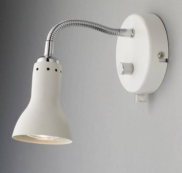 Væglampe med lysdæmper. Og flex arm. 5 forskellige farver.