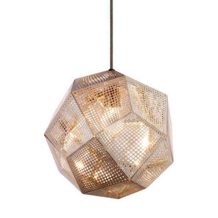 Den smukke pendel Etch er et matematisk vidunder af en lampe! Lampen består af en masse laserskårede perforerede 0