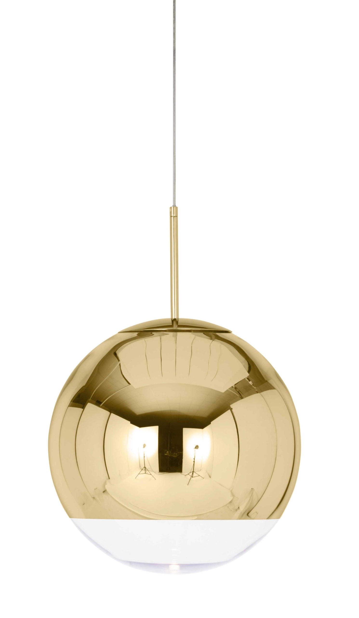 Mirror Ball Gold pendel