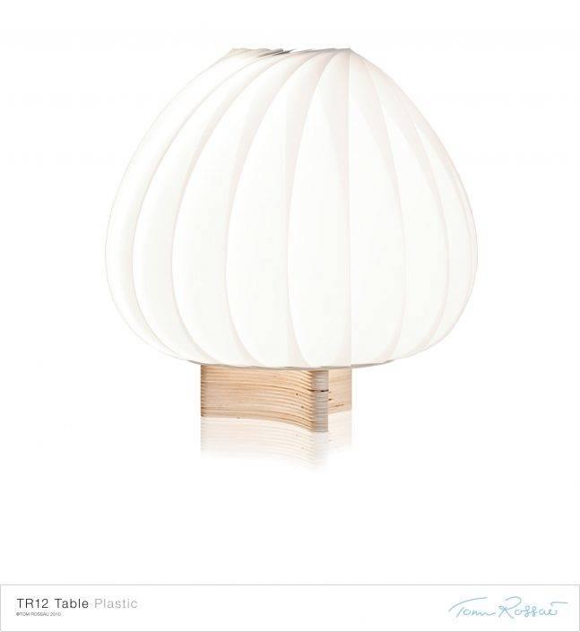 TR12 Bordlampe PP Plastik Hvid