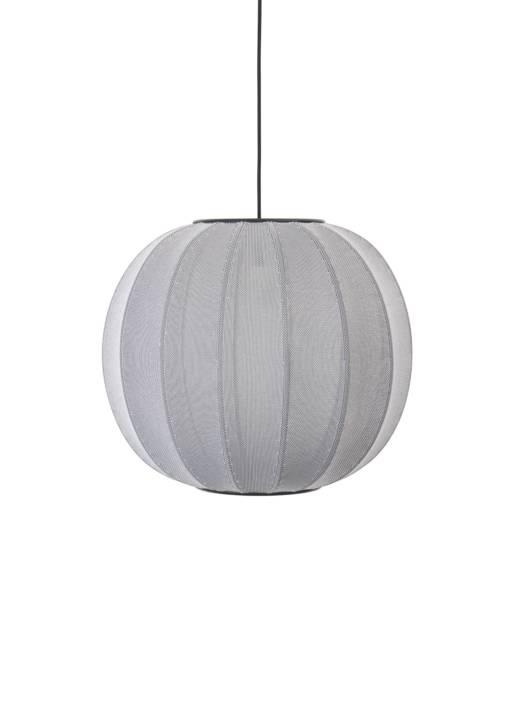 Knit-Wit Rund Pendel Ø45 Sølv – Made By Hand