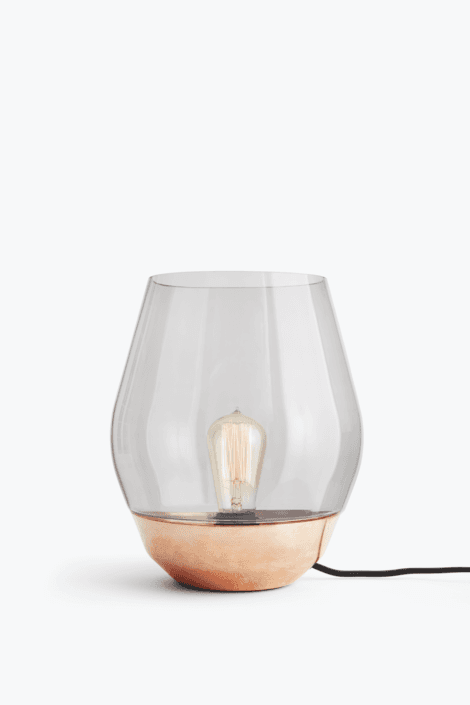 Bowl Bordlampe Rå Kobber