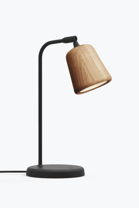 Material Bordlampe Natural Oak