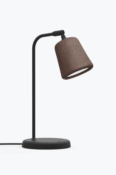 Material Bordlampe Smoked Oak