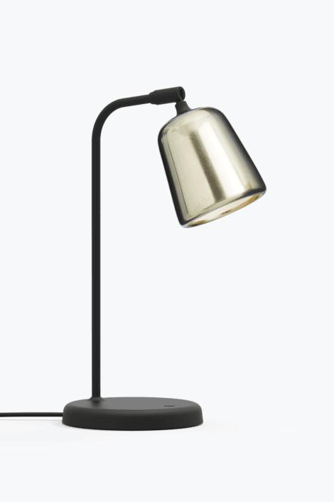 Material Bordlampe Yellow Steel