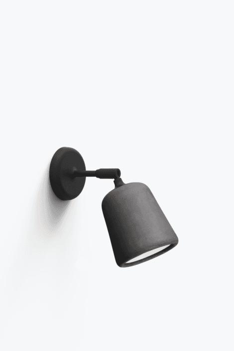 Material Væglampe Dark Grey