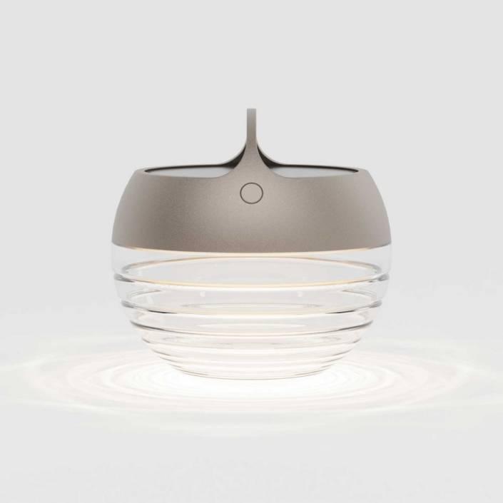 Aqu S Batteri Lampe Udendoers Lys Bronze IP44.de 1