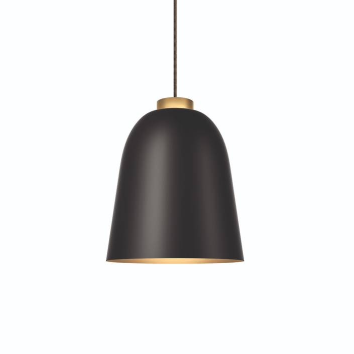 Shapes summera lampe i mat sort og guld