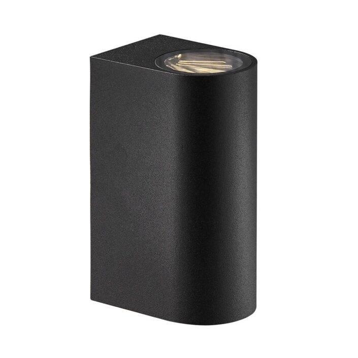 Asbol udendørs væglampe er en enkel og elegant væglampe til udendørs brug udført i lakeret metal. Lampen giver både opadrettet- og nedadrettet lys og er blandt andet ideel til indkørsel eller ved hovedindgangen.