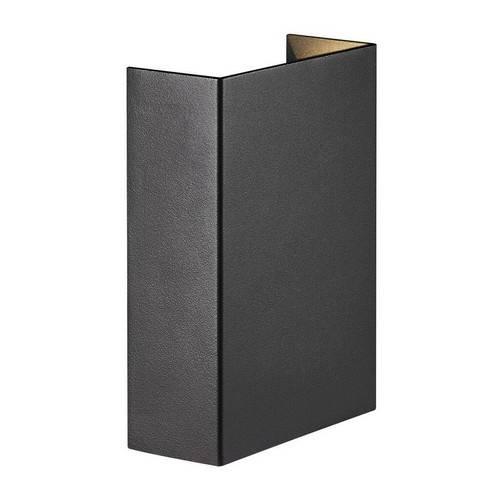 Fold 10 væglampe sort