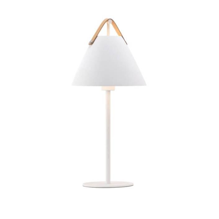 Strap Bordlampe Hvid